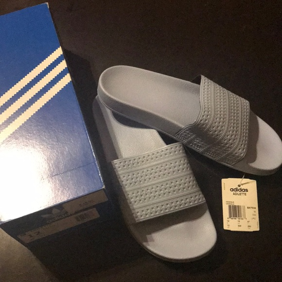 8eb528a9f BRAND NEW ADIDAS ADILETTE SLIDE SANDALS SIZE 12